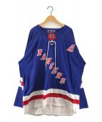 ()の古着「NEWYORK RANGERS ホッケーシャツ」 ブルー