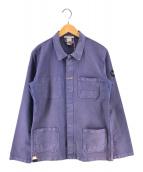 ()の古着「モールスキンフレンチワークジャケット」 ネイビー