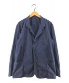 ()の古着「製品染めコットンギャバジャケット」 ネイビー