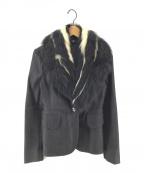 MIU MIU(ミュウミュウ)の古着「リアルファーカラージャケット」|ブラック