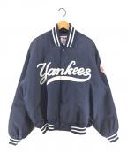 Majestic(マジェスティック)の古着「[古着]90sニューヨークヤンキーススタジャン」|ネイビー