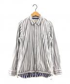 sacai(サカイ)の古着「19AWナイロンシャツ」|ホワイト×ブルー