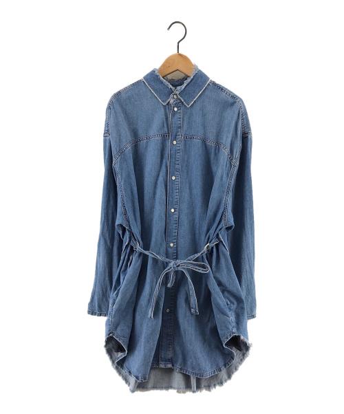 DIESEL(ディーゼル)DIESEL (ディーゼル) デニムシャツワンピース インディゴ サイズ:XXSの古着・服飾アイテム