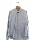 ()の古着「ストライプシャツ」 ブルー