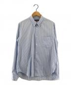COMME des GARCONS HOMME(コムデギャルソン オム)の古着「ストライプシャツ」|ブルー