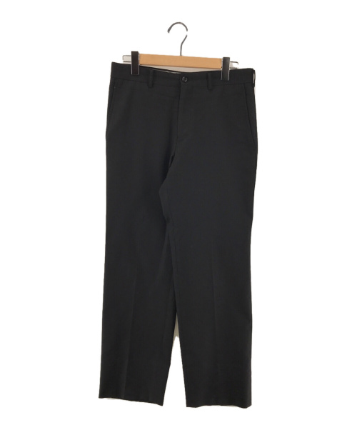 COMME des GARCONS HOMME(コムデギャルソン オム)COMME des GARCONS HOMME (コムデギャルソン オム) ウールギャバストレートパンツ  ブラック サイズ:XSの古着・服飾アイテム