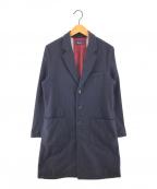 FRED PERRY(フレッドペリー)の古着「裏地ユニオンジャックチェスターコート」|ネイビー