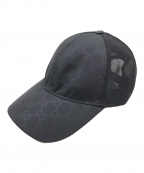 GUCCI(グッチ)の古着「GGナイロンベースボールキャップ」|ブラック