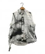 SOSHIOTSUKI(ソウシオオツキ)の古着「別注203 KIMONO BREASTED SHIRTS」|ホワイト×カーキ