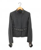 GUCCI(グッチ)の古着「スタッズジャケット」|ブラック