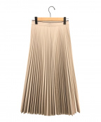STUDIOUS(ステュディオス)の古着「レザーライクプリーツスカート」|ベージュ