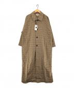 moussy(マウジー)の古着「バルカラードルマンコート」|ブラウン