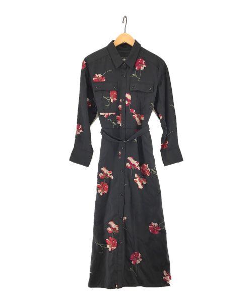 GRACE CONTINENTAL(グレースコンチネンタル)GRACE CONTINENTAL (グレースコンチネンタル) 刺繍アーミーシャツワンピース ブラック サイズ:36の古着・服飾アイテム