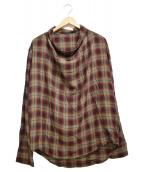 ()の古着「プルオーバーシャツ」|グリーン×レッド