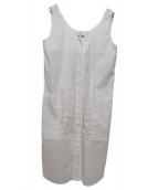 JIL SANDER NAVY(ジルサンダーネイビー)の古着「ノースリーブワンピース」|ホワイト