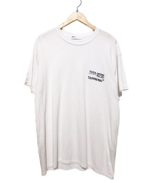 TOGA ARCHIVES(トーガアーカイブス)TOGA ARCHIVES (トーガ・アーカイブス) プリントTシャツ ホワイト サイズ:48の古着・服飾アイテム