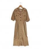 EMMEL REFINES(エメル リファインズ)の古着「シャツワンピース」|ベージュ