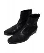 ()の古着「サイドジップブーツ」|ブラック