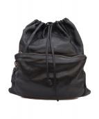 MM6(マルタンマルジェラ)の古着「カーフスキンドローストリングバックパック」|ブラック