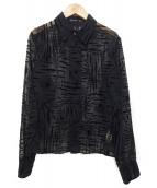 yohji yamamoto+Noir(ヨウジヤマモトプリュスノアール)の古着「レーヨン柄シャツ」|ブラック