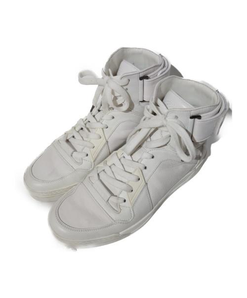 GUCCI(グッチ)GUCCI (グッチ) high-top sneaker ホワイト サイズ:7 386738の古着・服飾アイテム