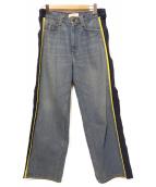 FACETASM(ファセッタズム)の古着「サイドスナップデニムパンツ」|ブルー