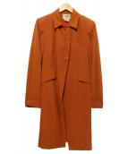 HERMES(エルメス)の古着「ヴィンテージリネンロングコート」|オレンジ