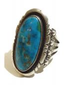 Indian Jewelry(インディアンジュエリー)の古着「ターコイズスタンプワークリング」