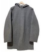 AURALEE(オーラリー)の古着「HEAVY MELTON HOODED COAT」|グレー
