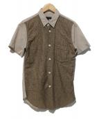 COMME des GARCONS Homme Plus(コムデギャルソンオムプリュス)の古着「切替シャツ」|ベージュ