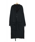 THOM KROM(トムクロム)の古着「スウェットロングコート」|ブラック