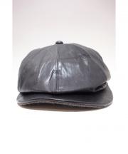 OLD JOE & Co.(オールドアンドジョー)の古着「レザーハンチング」|ブラック