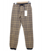 sacai(サカイ)の古着「チェックパンツ」|ベージュ