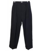 KAIKO(カイコー)の古着「WIDE SLACKS/タックパンツ」 ブラック
