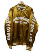 NEIGHBORHOOD(ネイバーフッド)の古着「B.B. EJKT スタジャン」|イエロー