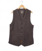 ORGUEIL(オルゲイユ)の古着「ジレ ベスト」|ブラウン