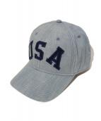 POLO RALPH LAUREN(ポロラルフローレン×ロンハーマン)の古着「USAロゴキャップ」|ブルー