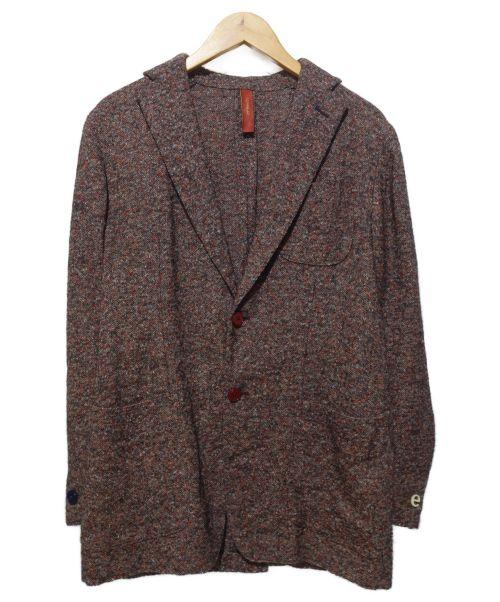 ernesto(エルネスト)ernesto (エルネスト) テーラードジャケット ボルドー サイズ:48の古着・服飾アイテム