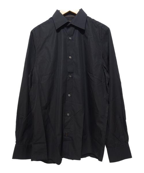 LOUIS VUITTON(ルイヴィトン)LOUIS VUITTON (ルイヴィトン) ドレスシャツ ブラック サイズ:39の古着・服飾アイテム