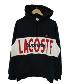 Supreme×LACOSTE(シュプリーム×ラコステ)の古着「コラボプルオーバーパーカー」|ネイビー