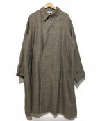 ORCIVAL()の古着「グレンチェックラグランコート」 ブラウン
