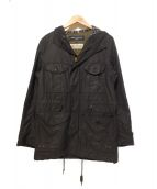()の古着「オイルドモッズコート」 ブラック