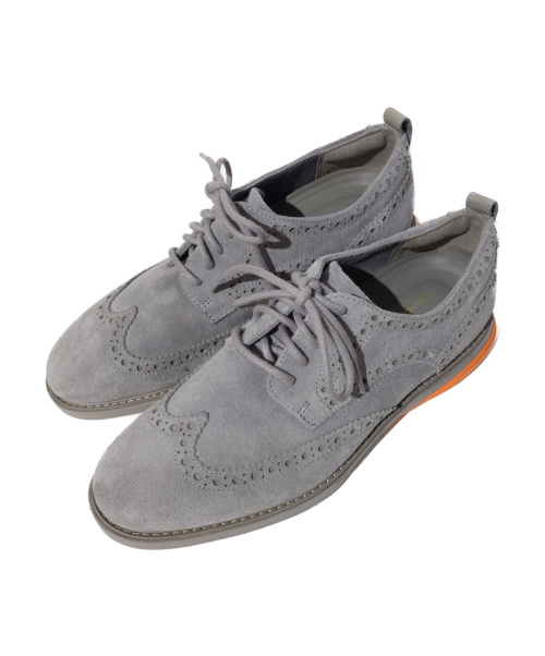 COLE HAAN(コールハーン)COLE HAAN (コールハーン) グランドエヴォリューションウイング グレー×オレンジ サイズ:7 1/2の古着・服飾アイテム