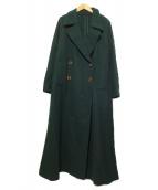 Ameri VINTAGE(アメリヴィンテージ)の古着「BELT FLARE LONG COAT コート」|グリーン