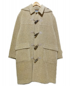 Agnona(アニオナ)の古着「アルパカダッフルコート」|ベージュ