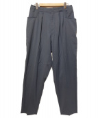 bukht(ブフト)の古着「2-TUCK L POCKET TROUSERS」|ブルー