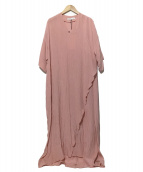 08sircus(08サーカス)の古着「viscose washer wrap dress ワンピー」 ピンク