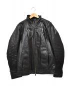 TETE HOMME(テットオム)の古着「レザージャケット」|ブラック