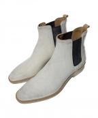 BUTTERO(ブッテロ)の古着「サイドゴアブーツ」 ホワイト