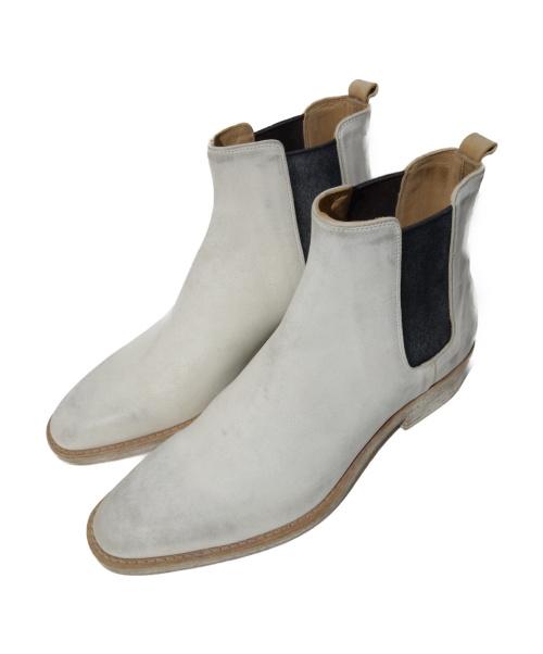 BUTTERO(ブッテロ)BUTTERO (ブッテーロ) サイドゴアブーツ ホワイト サイズ:40 B8260の古着・服飾アイテム